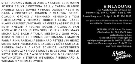 ART***ich • Vernissage: 12. April 2018